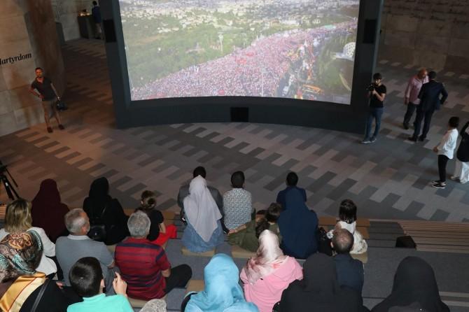 Şehit ailelerinden Hafıza 15 Temmuz Müzesi'ne ziyaret