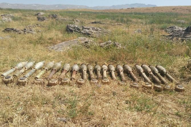 Pervari'de PKK'ye ait patlayıcı ve mühimmat bulundu