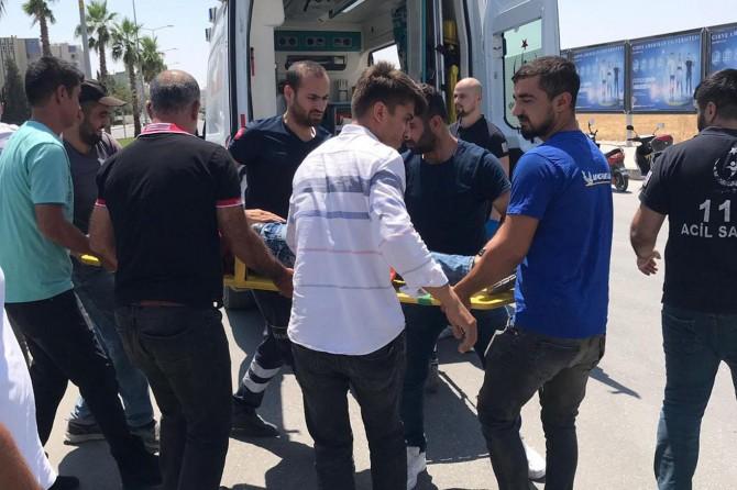 Nusaybin'de otomobil ile motosiklet çarpıştı: 1 yaralı