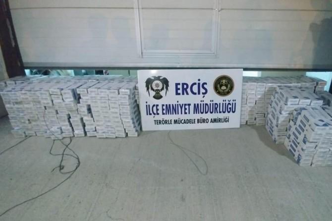 Erciş'te 5 bin paket gümrük kaçağı sigara ele geçirildi