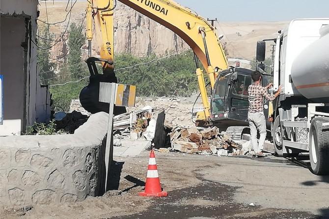 Hasankeyf'te yıkım işlemi devam ediyor
