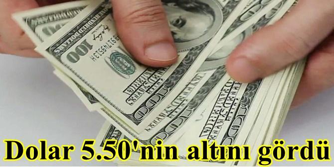 Dolar 5.50'nin altını gördü