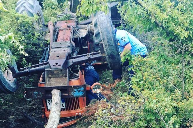 İvrindi'de traktör kazası: 1 yaralı