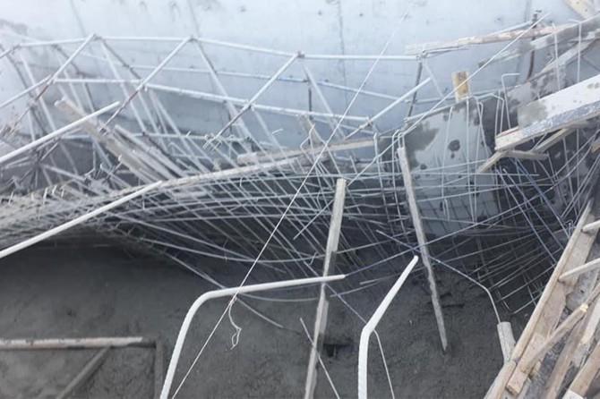 Kâhta'da HES inşaatında göçük: 4 yaralı