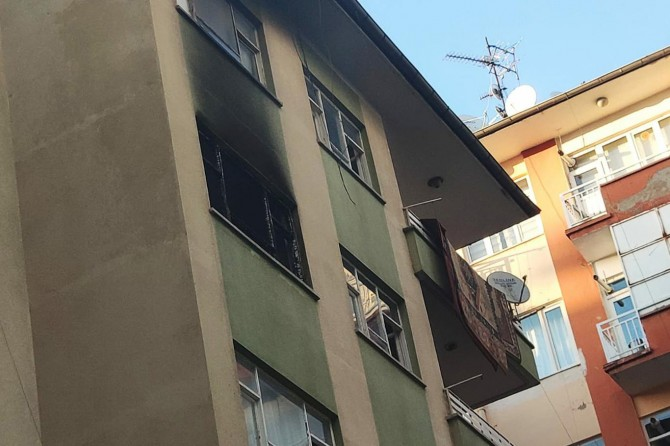 Diyarbakır'da Sanat Sokağında yangın