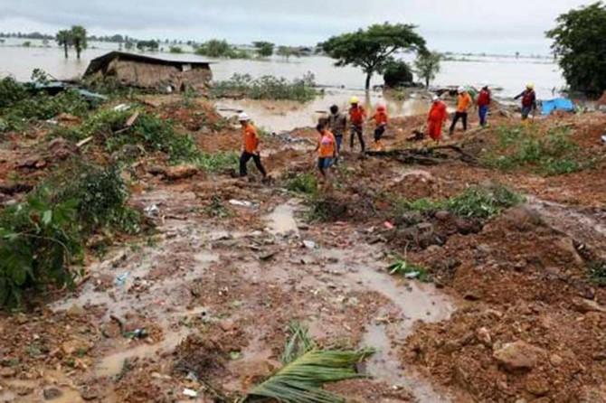 Myanmar'daki heyelanda ölenlerin sayısı 63'e yükseldi