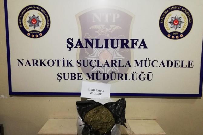 Şanlıurfa'da 11 kilo esrar ele geçirildi