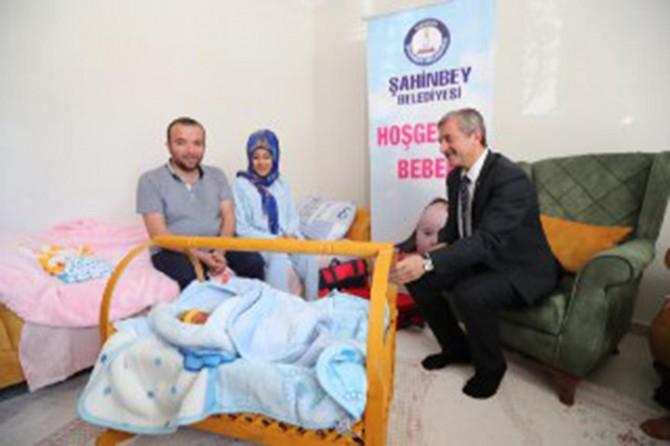 Gaziantep'te 110 bininci bebeğe hoş geldin bebek sürprizi
