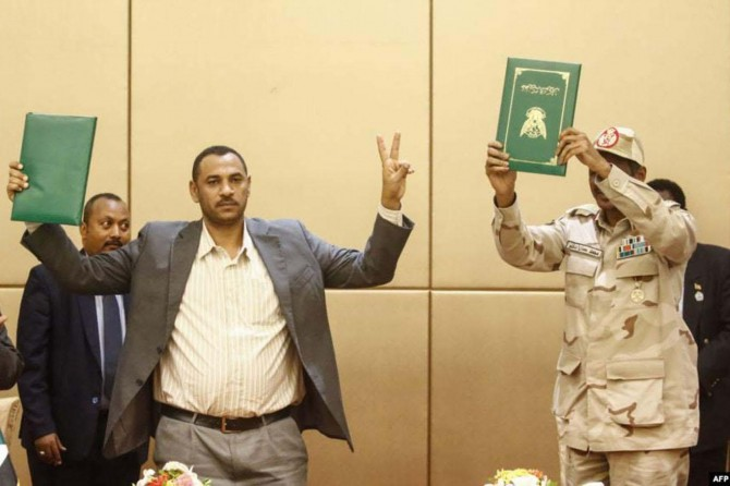 Deal reached for a transitional government in Sudan
