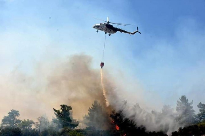 Fire in forested areas in Izmir and Muğla