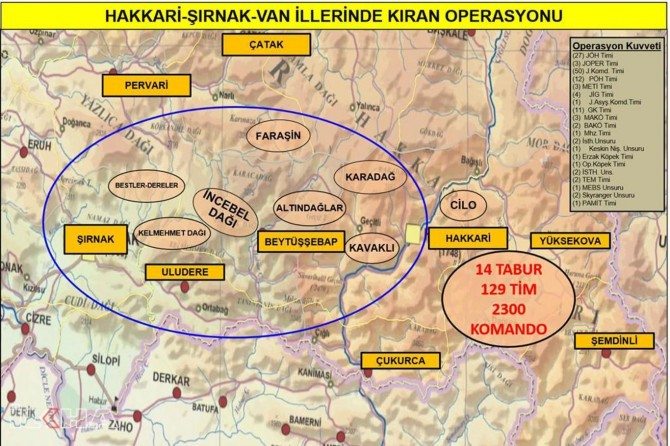Turkey launches Operation Kıran against PKK in three provinces
