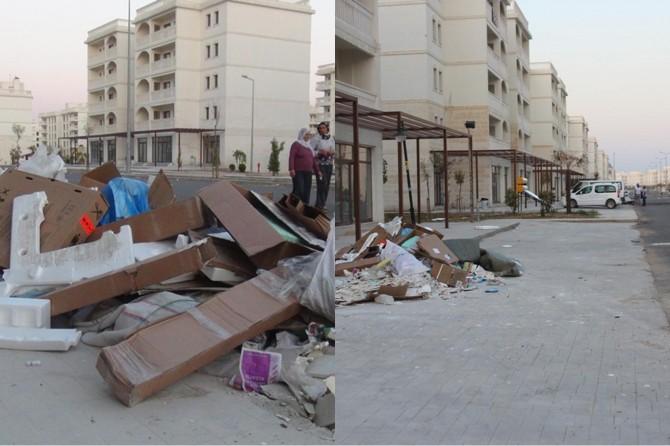 Nusaybin'de toplanmayan çöpler vatandaşı mağdur ediyor