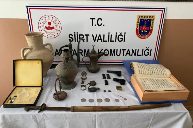 Kurtalan'da tarihi eser ve silah kaçakçılığı operasyonu
