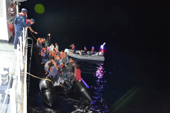 132'si çocuk 229 düzensiz göçmen yakalandı