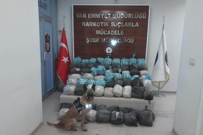 Van'da 342 kilo eroin ele geçirildi