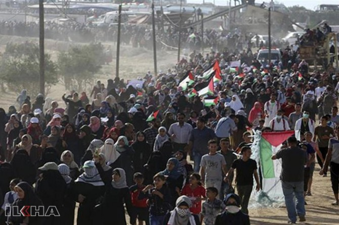 Occupying zionists force Palestinians in Gaza to emigrate