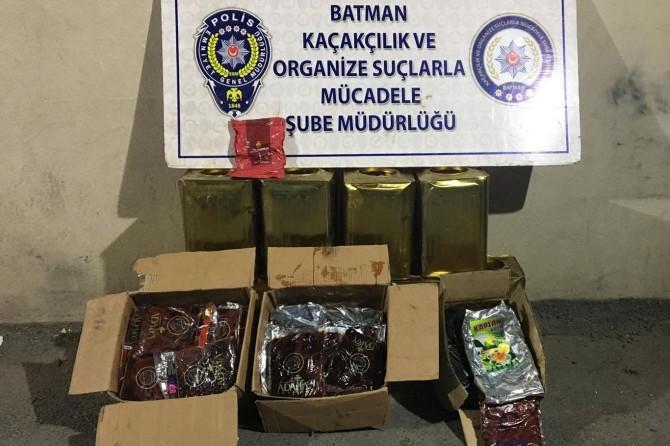 Batman'da 273 kilo gümrük kaçağı tütün ele geçirildi