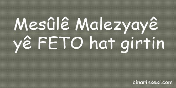 Mesûlê Malezyayê yê FETO hat girtin