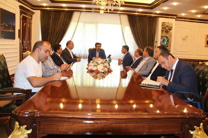 Diyarbakır Ticaret Borsası'ndan Büyükşehir Belediyesi'ne destek ziyareti