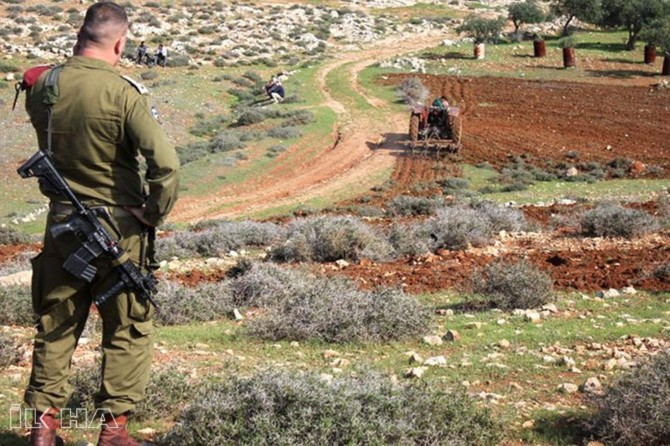 Occupation takes place step by step
