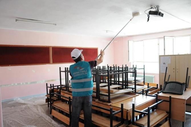 Hükümlüler okulları yeni döneme hazırladı