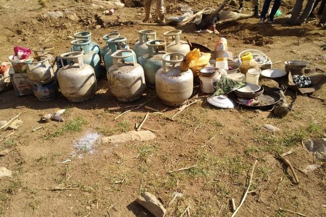 Gevaş'da PKK/KCK'ye ait sığınaklar imha edildi