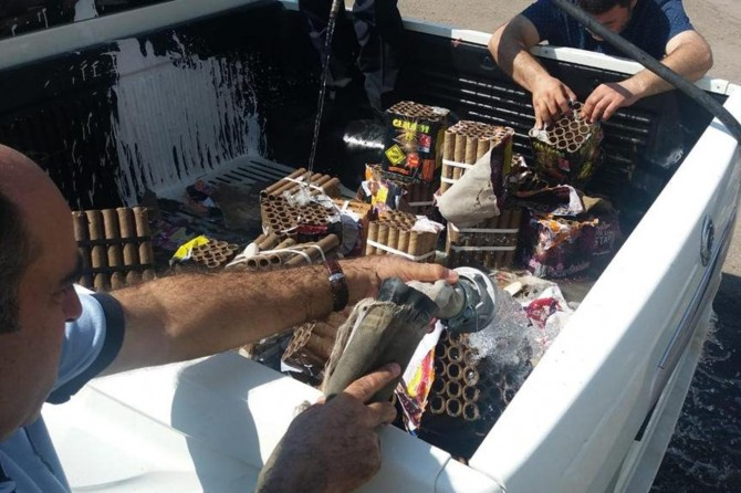 Bağlar'da satışı yasak olan patlayıcı maddeler imha edildi