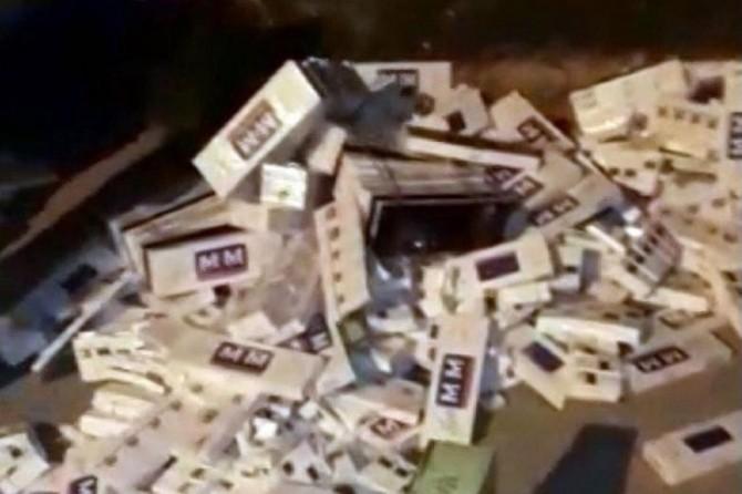 Gaziantep'te 38 bin paket gümrük kaçağı sigara ele geçirildi