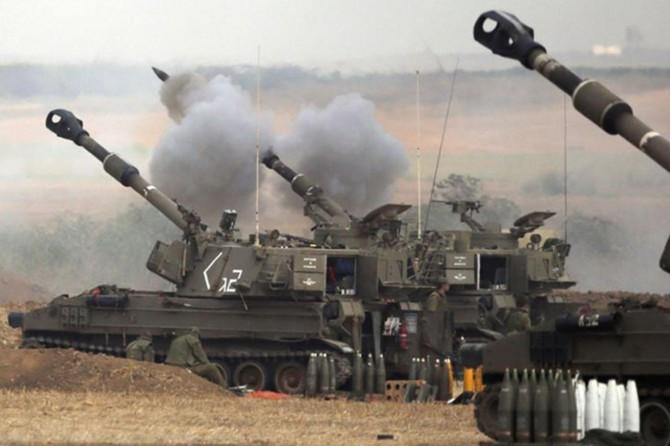 İşgal rejimi Gazze'yi topçu atışlarıyla vurdu