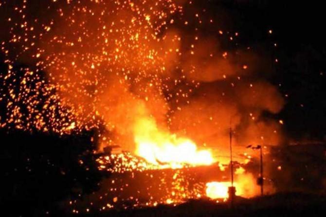 KKTC'de mühimmat deposunda patlama