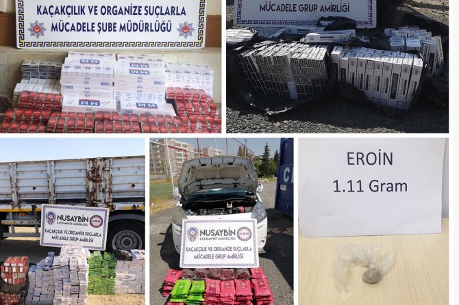 Mardin'de 12 bin paket kaçak sigara ele geçirildi