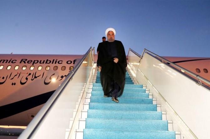İran Cumhurbaşkanı Ruhani Üçlü Zirve için Ankara'da