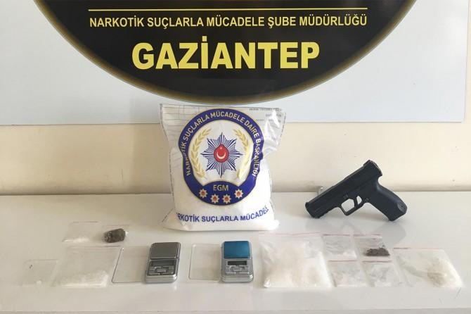 Gaziantep'te uyuşturucu satıcılarına operasyon: 13 gözaltı