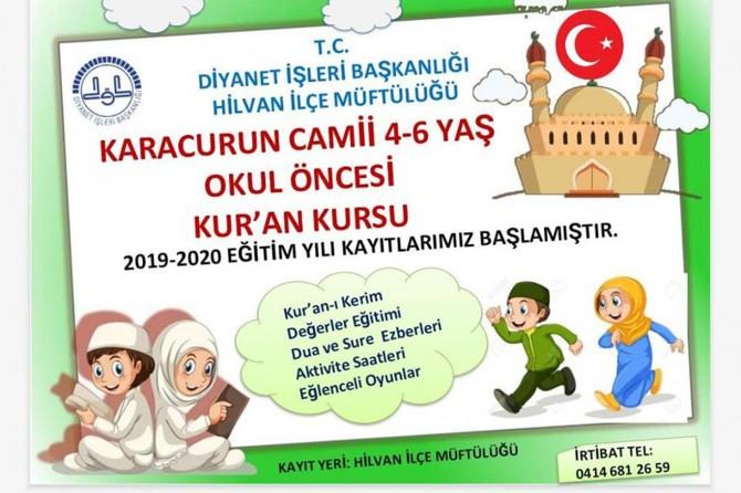 4-6 yaş arası çocuklar için Kur'an kursu
