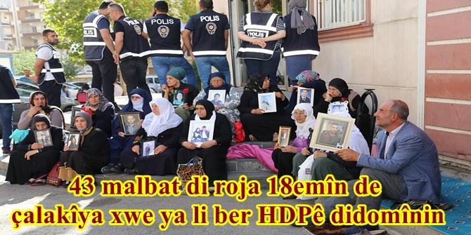 43 malbat di roja 18emîn de çalakîya xwe ya li ber HDPê didomînin