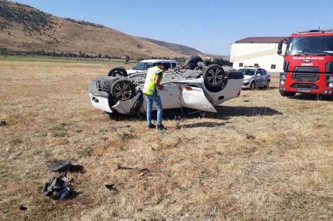 Solhan otomobil şarampole yuvarlandı: 1 ölü