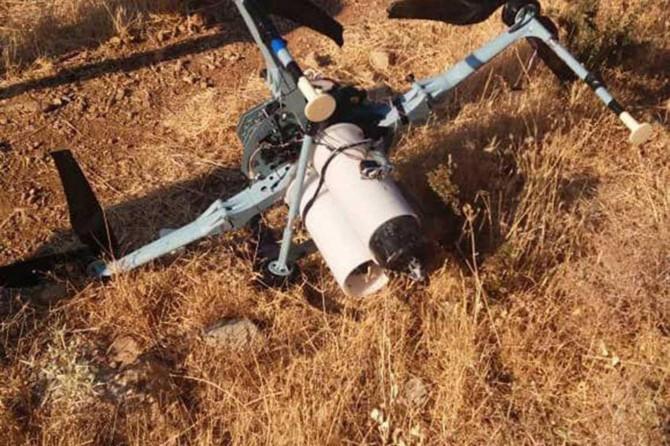 Suriye'de siyonistlere ait misket bombalı İHA düşürüldü