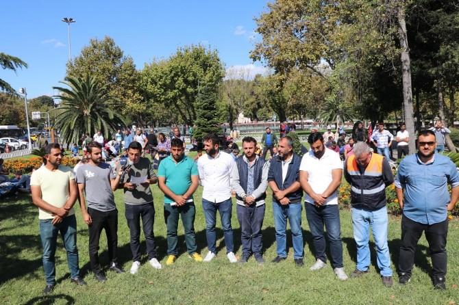 İBB'den çıkarılan işçilerin aileleri de eyleme katıldı