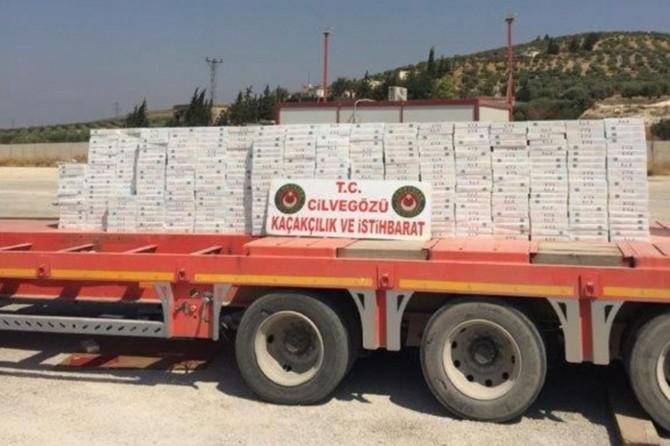 33 bin paket gümrük kaçağı sigara ele geçirildi