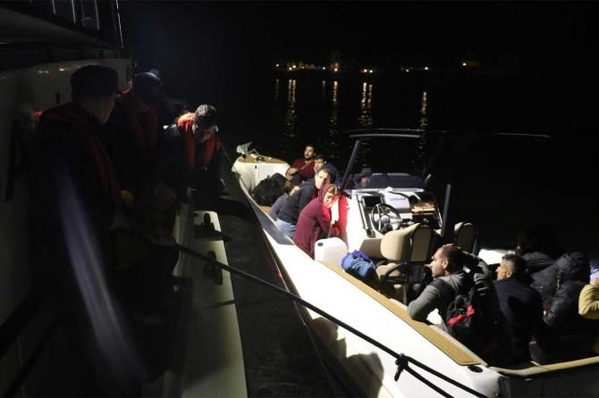 Ayvacık'ta 213 düzensiz göçmen yakalandı