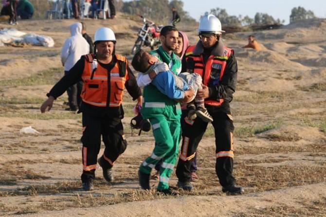 İşgalci çeteler 63 Filistinliyi yaraladı
