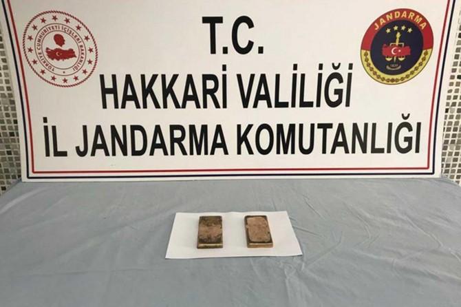 Yüksekova'da gümrük kaçağı külçe altın ele geçirildi