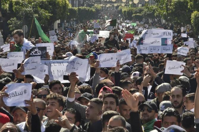 Cezayir'de yönetim karşıtı gösteriler yapıldı
