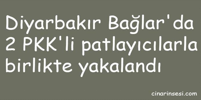 Diyarbakır Bağlar'da 2 PKK'li patlayıcılarla birlikte yakalandı
