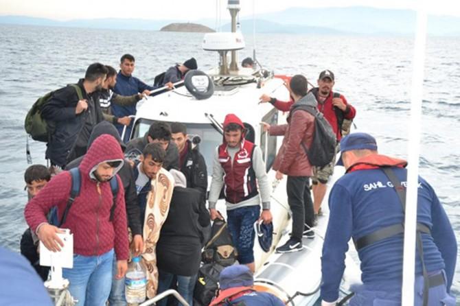 İzmir'de 239 düzensiz göçmen yakalandı