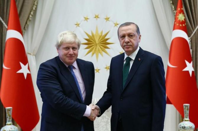 Cumhurbaşkanı Erdoğan İngiltere Başbakanı Johnson ile görüştü