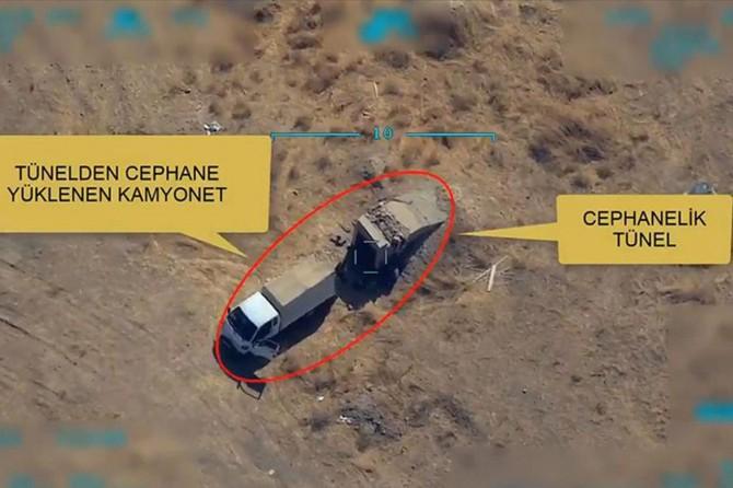 MSB: Mühimmat ikmali yapan kamyonet imha edildi