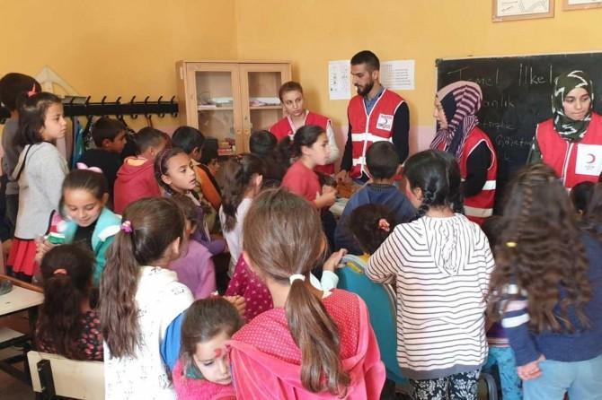 Kızılay'dan hijyenik eğitimi