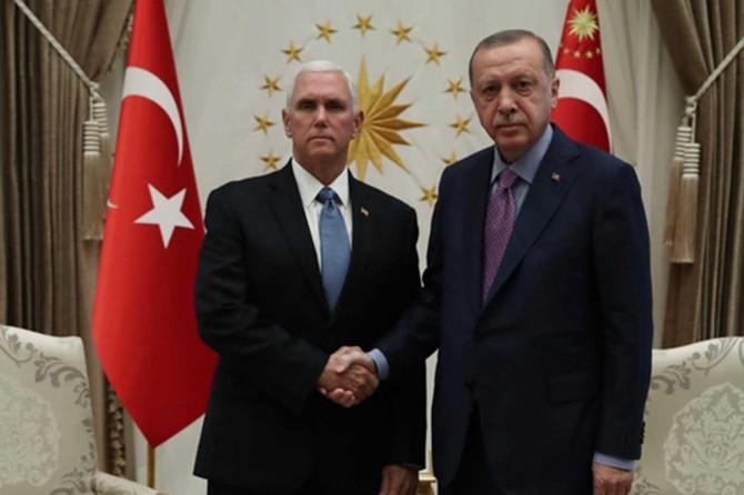 Erdogan receives US Vice President Mike Pence