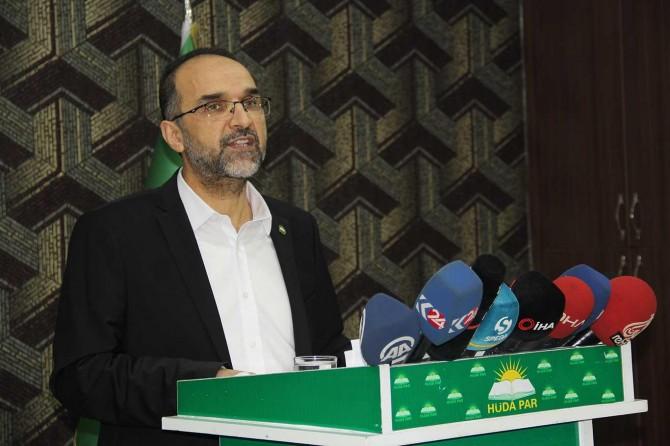 HÜDA PAR Genel Başkanı Sağlam gündeme ilişkin basın açıklaması düzenleyecek